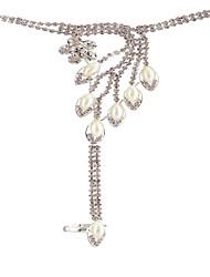 Women's Charm Bracelet Ring Bracelet Rhinestone Obsidian Bikini Fashion Multi Layer Bling Bling Costume Jewelry Imitation Pearl