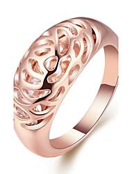 Жен. Классические кольца Бижутерия Геометрический Мода По заказу покупателя Симпатичные Стиль Bling Bling бижутерия Позолоченное розовым
