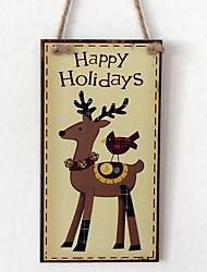 European and American wooden Christmas deer is listed for Christmas Eve Christmas deer wooden hanging board