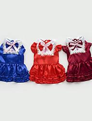 Chien Robe Vêtements pour Chien Décontracté / Quotidien Princesse Marron Rouge Bleu