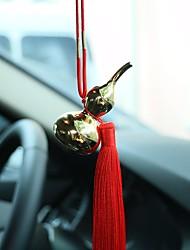 Diy pendentes automotivos carro pingente de ouro gourd ornamentos interiores ornamentos de jóias chinês borlas modelos de luxo pingente de
