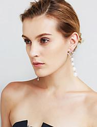Mulheres Brincos Set Imitação de Pérola Imitação de Diamante Euramerican Jóias filme Jóias de Luxo Incompatibilidade Sexy Moda Cobre