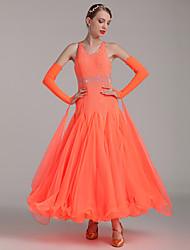 Danse de Salon Robes Femme Spectacle Spandex 1 Pièce Taille moyenne Robes