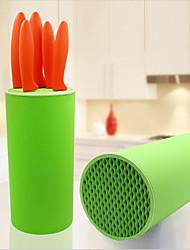 Porta-faca suporte bloco de cozinha sooktops ferramenta de plástico estante de tubo cromófago