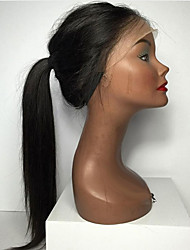 8-26 Inch Silk Straight Human Hair Wigs Glueless Lace Front Wigs Natural Indian Human Hair Black For Black Women