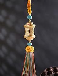 Diy pendentes automotivos budismo seis palavras mantra virar carro pendente&Ornamentos borlas de algodão de liga