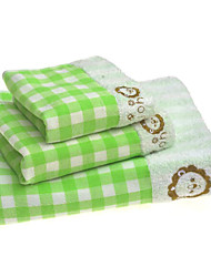Bath Towel Set,Plaid/Check High Quality 100% Cotton Towel