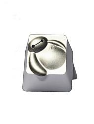 Translucent Metal Keycap ESC Keybit Super White R4 Hight Top Printed