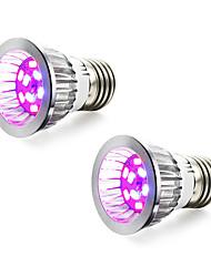 5W E14 GU10 E27 Luci LED per la coltivazione 10 SMD 5730 165-190 lm Blu Rosso V 2 pezzi