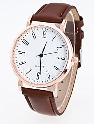 Men's Women's Sport Watch Dress Watch Fashion Watch Wrist watch Chinese Quartz PU Band Casual Black Brown