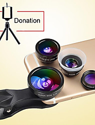 Boucles d'oreille 8x long focale optique objectif optique caméra optique 0.4x grand angle 12x macro lentille fish-eye pour iphone huawei