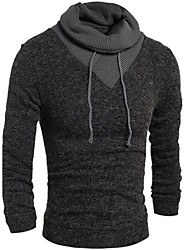 Men's Casual/Daily Regular Cardigan,Solid Hooded Long Sleeve Cotton Others Fall Medium Micro-elastic