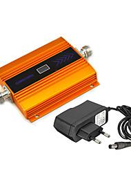 Mini gsm teléfono móvil señal de refuerzo 2g 900mhz señal repetidor amplificador con fuente de alimentación lcd pantalla / de oro