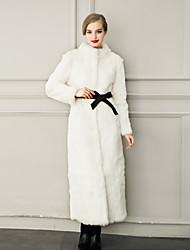 Women's Wrap Bridal Coats/Jackets Faux Fur Wedding Party/ Evening / Casual Long Sleeve Fur Coats/Jacket Sashes