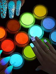 Arte Deco/Retro Meninas e Jovens Mulheres Brilha no Escuro Efeito 3D Flash Artigos DIY Pó Descanso para Mãos para Manicure