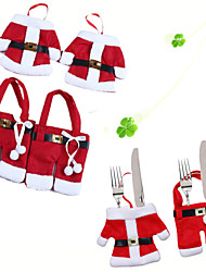 6Pcs/Set Christmas Ornament New Year Christmas Decoration for Home Table Decor Cutlery Pocket Fork&Knife Tableware Pouch