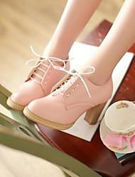 Women's Heels Comfort PU Summer Casual Comfort Blushing Pink Purple 2in-2 3/4in