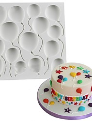 Birthday/Party BALLOONS Fondant Cake Silicone Molds Cupcake Mould Baking Tools Chocolate Easter Confeitaria Random Color