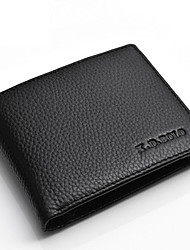 Men Money Clip Cowhide All Seasons Shopping Daily Casual Horizontal Without Zipper Black