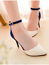 Women's Sandals Comfort Spring Summer PU Casual Black Ruby Blue 3in-3 3/4in