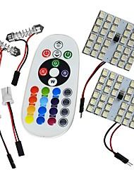 Jiawen t10 5050smd rgb led panel 36led автомобиль авто внутренняя лампа свет фастона пульт дистанционного управления вспышка вспышка dc