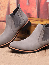 Men's Boots Bootie Combat Boots Fall Winter Suede Casual Party & Evening Outdoor Black Gray 1in-1 3/4in