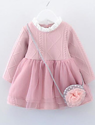 Girl's Solid Dress,Others Spring