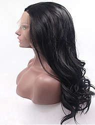 Natural Wave Black Indian Human Hair For Black Women Glueless Lace Front Wigs Body Wave
