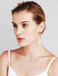 Women's Earrings Set Imitation Pearl Geometric Fashion Personalized Euramerican Statement Jewelry Mismatch Sexy Copper Circle Jewelry For