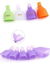 PINPAI New Clip Resurrection of Removing Foot Clip Nails Unloading Plastic 5 Pack Nail Art Tool Color Random