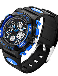 Men's Digital Watch Digital Water Resistant / Water Proof Alarm Stopwatch Noctilucent Rubber Band Black