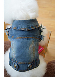 Dog Denim Jacket/Jeans Jacket Dog Clothes Casual/Daily Cowboy Solid Blue