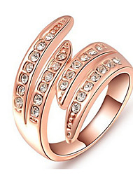 Midi Rings Band Rings Rose Gold Women's Fashion Elegant Wings Rings For Wedding Party  Movie Gift Jewelry