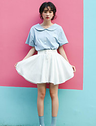 Women's Casual/Daily Mini Skirts A Line Solid Summer