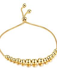 Mulheres Pulseiras em Correntes e Ligações Zircônia Cubica Básico Moda Adorável Jóias de Luxo Zircão Chapeado Dourado Formato Circular