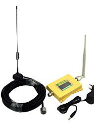 Telefone móvel de exibição inteligente 3g 2100mhz sinal de reforço w-cdma repetidor de sinal com antena de chicote / antena yagi amarelo