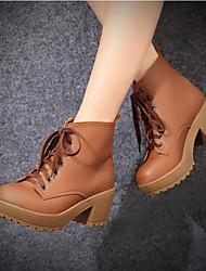 Women's Boots Comfort PU Winter Casual Comfort Yellow 2in-2 3/4in