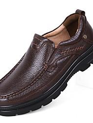 Masculino Mocassins e Slip-On Conforto Sapatos formais Sapatos de mergulho Outono Inverno Pele Real Pele Napa Pele Casual Festas & Noite
