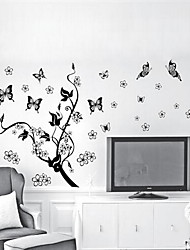 Botanical Wall Stickers Plane Wall Stickers Decorative Wall Stickers,Plastic Material Home Decoration Wall Decal
