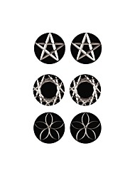 Men's Women's Stud Earrings Jewelry Acrylic Basic Fashion Punk Personalized Hip-Hop Hypoallergenic Classic Stainless Steel Round