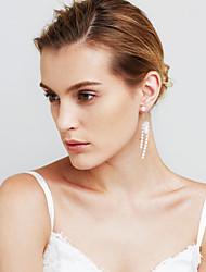 Femme Boucles d'oreilles Perle imitée Sexy Mode Personnalisé euroaméricains Bijoux Movie Bijoux de Luxe Bijoux Fantaisie CuivreForme de