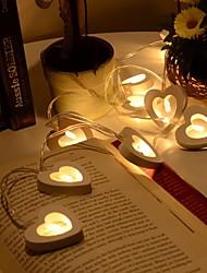 10 привели теплый деревянный сердце формы строки фея огни для рождества xmas свадебное украшение партия день Святого Валентина украшения