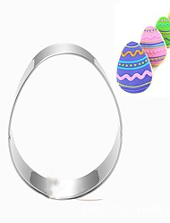 Easter Christmas Egg Shape Cookies Cutter Stainless Steel Biscuit Cake Mold Metal Kitchen Fondant Baking Tools