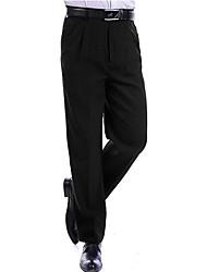 Men's High Rise Micro-elastic Chinos Pants,Simple Slim Solid
