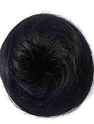 Парик синтетические женщины синтетические волосы chigon черные булочки шиньоны фигурные прически