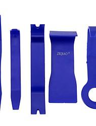 Ziqiao 5 pcs couleur bleue diy voiture en plastique auto radio porte clip panneau décalque tirelire matériel d'extraction audio kit outils