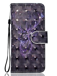 Para la galaxia a5 de Samsung (2017) a3 (2017) caja de cuero del teléfono de la PU de la caja del teléfono de la pintura del modelo 3d de
