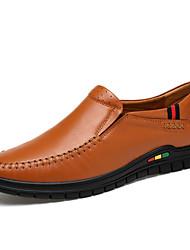 Masculino Mocassins e Slip-Ons Sapatos formais Pele Real Pele Outono Inverno Casamento Casual Festas & NoitePreto Azul Escuro Amarelo