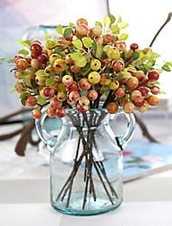 11inch Large Size 5 Branch Silk Styrofoam Polyester Plants Tabletop Flower Artificial Flowers