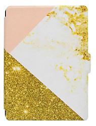 Caso de cuero de la PU del patrón de mármol con la ranura para tarjeta para el Amazonas nuevo enciende 2016 PC de la tableta de 6 pulgadas